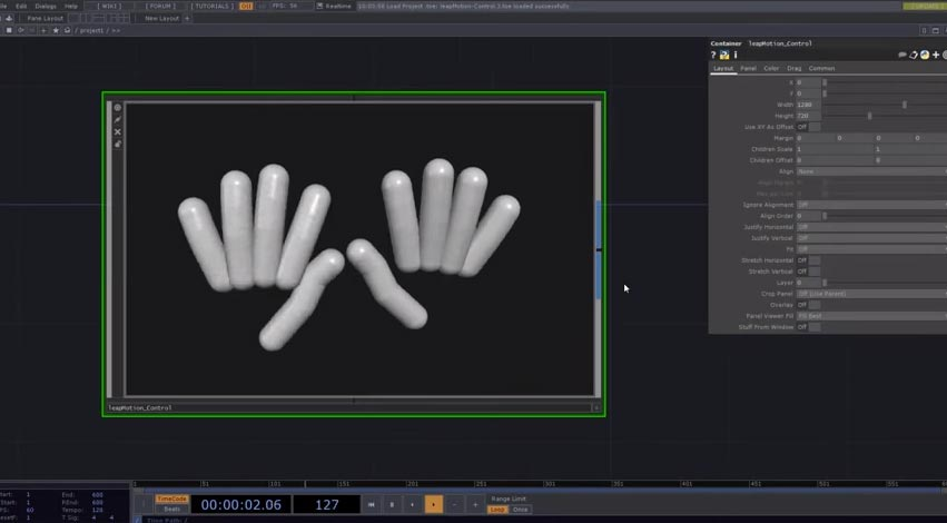TouchDesigner – Leap Motion Control