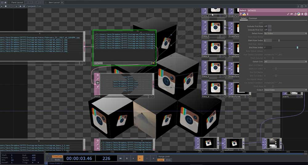 Tutorial: Mapping interactivo con Cinema4d, ifttt, Instagram y TouchDesigner